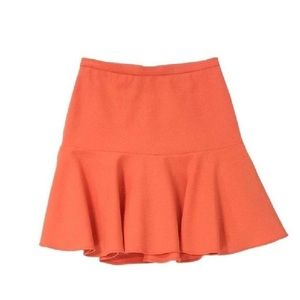 Elizabeth & James Orange Sorbet Fit Flare Skirt